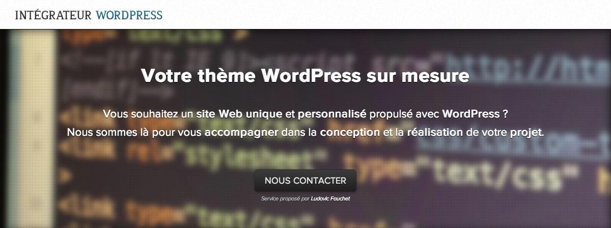 Intégrateur WordPress